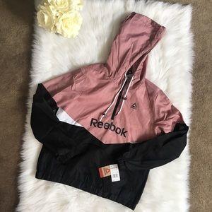Reebok Windbreaker Fleece Lined Jacket